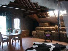 Hayema Heerd (Oldehove, Países Bajos)  Situado en Oldehove, se ofrecen diferentes opciones de alojamiento todas ellas de paja. En la granja de Hayema Heerd se puede elegir entre dormir en un clásica cama de paja o en un castillo de paja con cortinas, con lámparas de lujo y pieles de vaca por el suelo o un iglú de paja con un panel central de vidrio transparente para poder ver las estrellas desde la cama.
