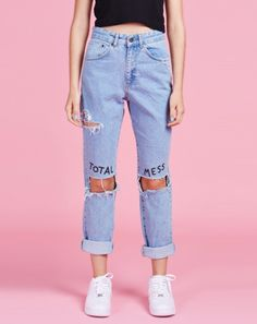 Lazy Oaf x The Ragged Priest Total Mess Jeans