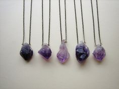 Large Raw Amethyst Necklace