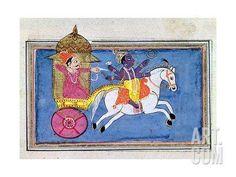 Arjuna and Krishna Giclee Print at Art.com