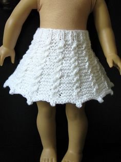 KATHY made me do it 18 American Girl AG doll SKIRT by KNITnPLAY, $1.99 knitting PATTERN