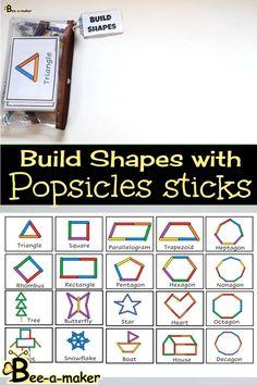 2d Shapes Activities, Teaching Shapes, Preschool Learning Activities, Play Based Learning, Free Preschool, Preschool Activities, Kids Learning, Teaching Aids, Weather Chart For Preschool