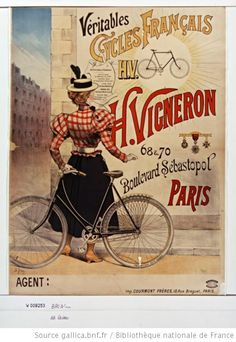 Véritables cycles français H. Vigneron : [affiche] / [Ch. Brun] - 1893