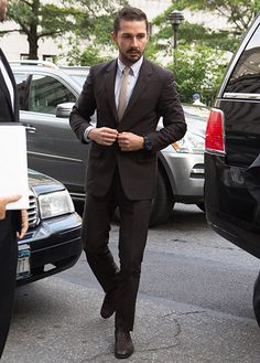 Cue the Slow Clap: Shia LaBeouf Shows Up to Court in a Suit