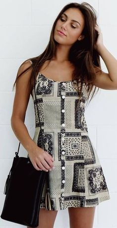 #summer #mishkahboutique #outfits | Cord Print Little Dress