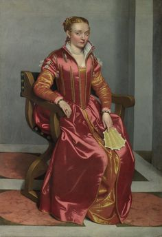 The Lady in Red by Giovanni Battista Moroni, 1556-60 Italy, National Gallery, London.