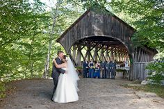 Artists' Covered Bridge in Newry, ME was named one of the most beautiful wedding photography backdrops by Martha Stewart Weddings. #weddingphotography #mainewedding