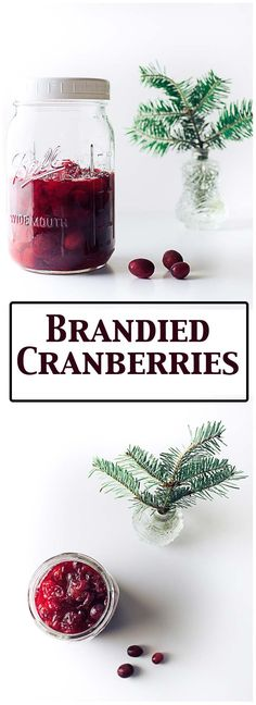 These Brandied Cranberries are ready in a day and make great #christmasgifts #diychristmas #cranberries #brandiedfruit