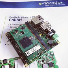 Tão pequeno... mas não subestime pelo tamanho! #Toradex #Colibri #VF61 com placa-base #Viola.  Poder para automação! E com estilo  #Embedded #Linux #Likeaboss by andrecurvello