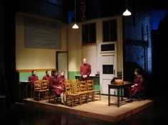 Guys and Dolls. Save A Soul Mission. LAMDA. Scenic design by Philip Engleheart. 2010