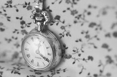 A black and white picture of a vintage pocket watch. Uploaded by PastelAngel101™