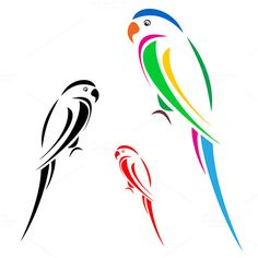 Find Vector Image Parrot stock images in HD and millions of other royalty-free stock photos, illustrations and vectors in the Shutterstock collection. Bird Stencil, Stencil Art, Fabric Painting, Painting & Drawing, Parrot Logo, Bird Template, Cartoon Birds, Pottery Painting Designs, Colorful Parrots