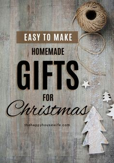 Are you looking to save a little money this year during the Christmas holidays? We've compiled over 200 homemade gift ideas, many of which you don't need to be an expert crafter to make. We have gift ideas for mom, dad, the kids, even teachers and other special people in your life. Don't break the bank this December, try making some thoughtful homemade gifts for the people on your Christmas list. All Things Christmas, Christmas Holidays, Christmas Crafts, Merry Christmas, Xmas, Thoughtful Christmas Gifts, Homemade Christmas Gifts, Homemade Gifts, Coffee Bean Candle