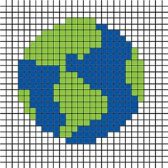 Earth Chart free pattern melty hama beads