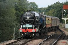 """Tornado"" arriving at The ""Bluebell Railway in East Sussex on September 10th 2013"