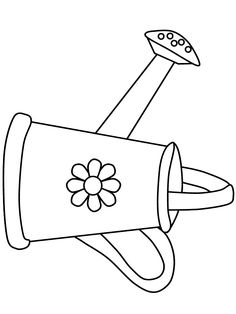 Watering Can Summer Coloring Pages