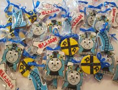 Thomas the train cookies collection www.facebook.com/carinaedolce www.Carinaedolce.com #carinaedolce