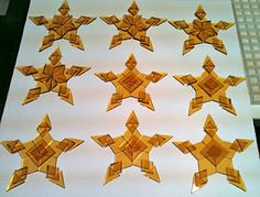 Star ornaments before firing