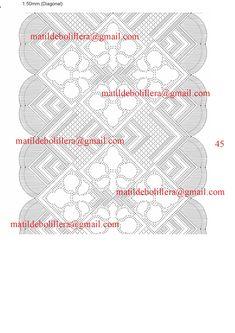 NUEVOS PICADOS PARA CHALES - Página web de matibolillera Bobbin Lace Patterns, Lacemaking, Textile Art, Diy And Crafts, Textiles, Line, Carpet, Scrappy Quilts, Lace Shawls