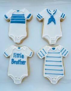 Boy Onesies Baby Shower Cookies Lindas Galletas ff3360f1124