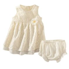 Rosenau™ Newborn Girls Eyelet Dress - Yellow.Opens in a new window..... I would love this for either my baby's dedication outfit or easter dress :) its so cute