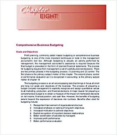 Business Monthly Budget Template  Business Budget Template For