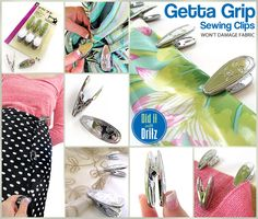You will not believe how many uses there are for versatile Getta Grip #sewing clips! Check this out & learn more: Products We Love – Getta Grip Sewing Clips from @sew4home @paulgallo3