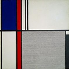 Nonobjective II by Roy Lichtenstein Roy Lichtenstein, Piet Mondrian, Abstract Expressionism, Abstract Art, Abstract Landscape, Pop Art, Modern Art, Contemporary Art, Tableaux Vivants