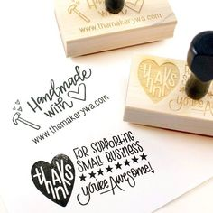 Exclusive rubber stamp - Thanks for Supporting Small Business - You are Awesome - with stars - modern calligraphy, hand letterering STAMPS Craft Packaging, Jewelry Packaging, Packaging Design, Packaging Ideas, Stamped Business Cards, Business Stickers, Best Business Ideas, Business Thank You, Love Stamps