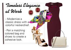 Timeless Elegance at Work Antonio Berardi, Anya Hindmarch, Neckerchiefs, Timeless Elegance, Style Ideas, Polyvore Fashion, Scarves, Pairs, Shoe Bag