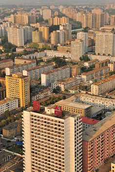 """""""Soon, a clean, tall city unfolded before us, and unfold is the word. Many cities unravel, their layouts like random bits of string flung in a box, but Pyongyang's vistas and boulevards of sharp-sided buildings pan out so neatly, as definable sections on a vast plan of the city."""" North Korea: the Bradt Guide; www.bradtguides.com"""