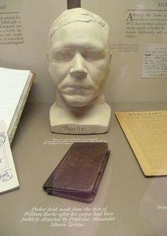 Surgeons' Hall Museum – Edinburgh, Scotland | Atlas Obscura William Burke's death mask and a book bound in his skin.