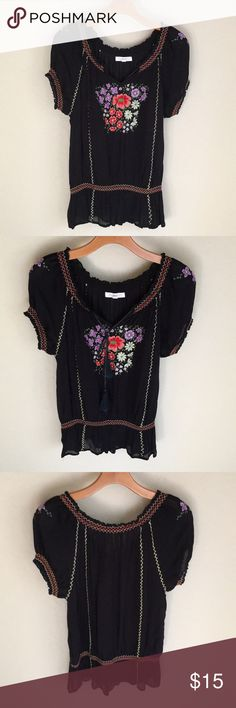 Beautiful Blouse In Good Condition! Beautiful Blouse In Good Condition!  Pretty embroidery throughout! Gently worn. Machine wash, line dry & no iron!  Flattering Blouse! Patrons of Peace Tops Blouses