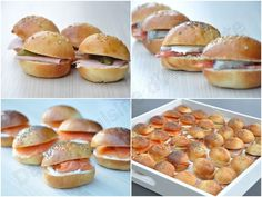 Petites navettes garnies pour buffet chic - Dans la cuisine d'Audinette - Expolore the best and the special ideas about Thirty one party Buffet Chic, Bbq Appetizers, Mini Hamburgers, Mini Sandwiches, Food Inspiration, Breakfast Recipes, Food And Drink, Snacks, Cooking
