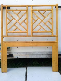 Twin Size Headboard Fretwork Faux Bamboo  Chinese Chippendale by DEGFURNITUREDESIGNS on Etsy
