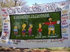 Bandera de egresados Evolución Secundaria - Banderas de egresados