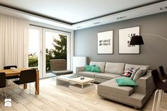 Salon styl Nowoczesny - zdjęcie od design me too Living Spaces, Living Room, Outdoor Furniture Sets, Outdoor Decor, Corner Sofa, Small Apartments, Beautiful Interiors, Home Kitchens, My House