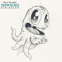 Big-mouthed Octosquib. #morningscribbles