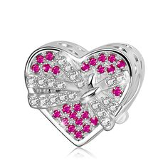 Longway 925 Sterling Silver Heart Bead for Pandora