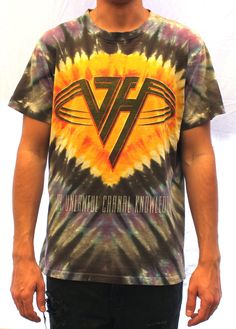 1991 Van Halen Tie Dye Tee Medium
