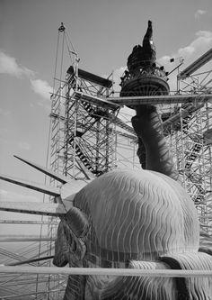 1984 restoration Statue of Liberty, Liberty Island, Manhattan.