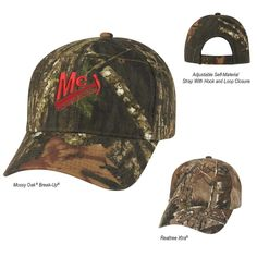 Realtree Mossy Oak Logo Custom Cap - Logo camoflauge caps are great  promotional products for so many uses. Whether your customer base is made  up of outdoor ... e8f0a94f5125
