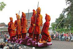 Bloemencorso (flower decorated float parade) in Lichtenvoorde