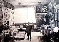 Monet in his studio, 1920