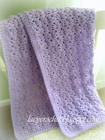 Lacy Crochet: Lacy Baby Blanket, Free Pattern. (More open spaces=softer blanket) @Emilie Claeys Phillips for my next bebe