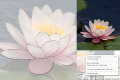 Draw a lotus flower step by step with pen, pencil or using Artrage as in this demonstration.