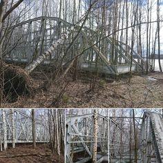 Lenkillä - Hylätty wanha silta - ilmeisesti entinen  rautatiesilta. #Kuopio #abandoned