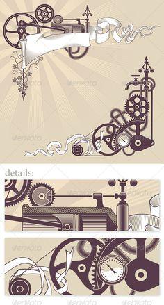 Steampunk graphic design - Patterns Decorative- great!