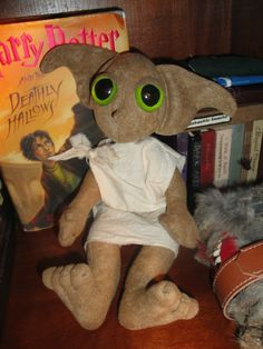 "Wizarding Harry Potter DOBBY INSPIRED PLUSH 13"" Hand Crafted House Elf Doll NEW 