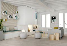 Un salon sur-mesure, meuble - salon - appartement - agence Marion Lanoë - Lyon - aménagement - rénovation - scandinave - décoration - architecte intérieur